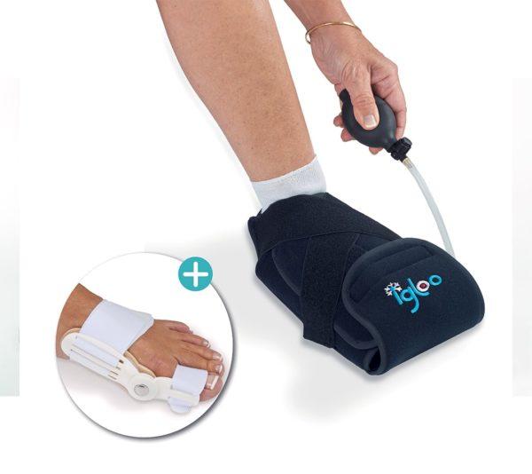 Set HALLUX-VALGUS : chausson de cryothérapie Igloo® + attelle articulée